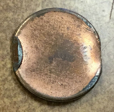 Lincoln Cent Error Scarce EDGE STRIKE zinc planchet