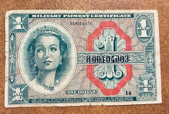 1964 Military Payment Certificate $1RARE 611 Series