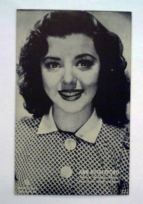 Vintage Movie Postcard Ann Rutherford, MGM Andy Hardy series