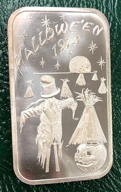 Halloween 1974 Art Bar 1 oz .999 Silver