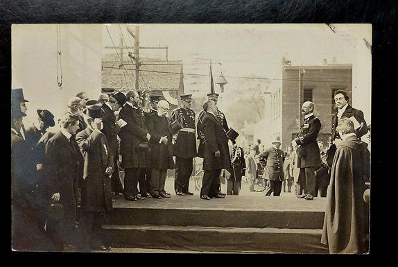 1910 ALBANY NY RPPC Postcard Dignitaries Top Hats Uniformed men