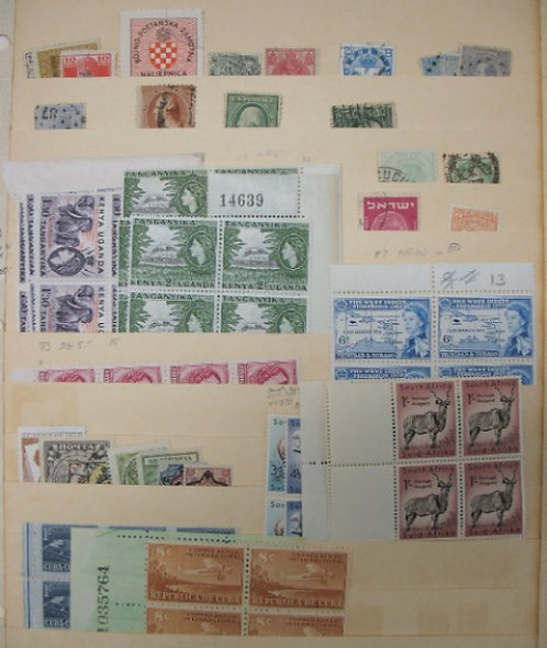 WORLD-WIDE Stamp Collection -Lot 1279
