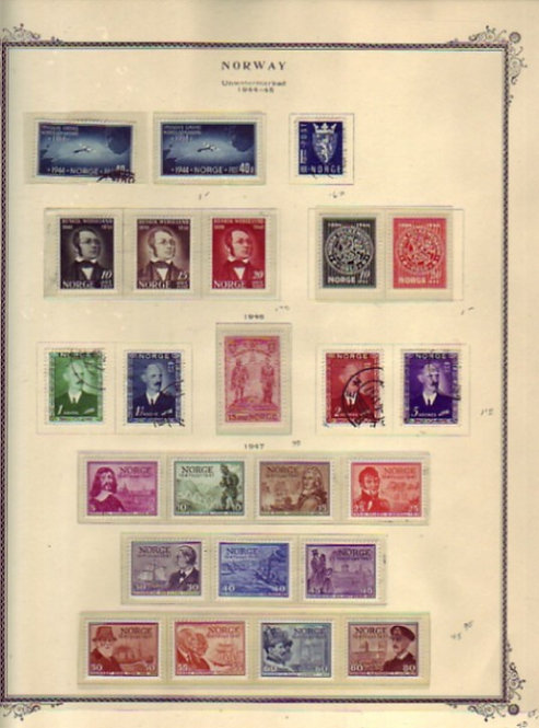 Norway Stamp Collection, high catalog-value- Lot 1448