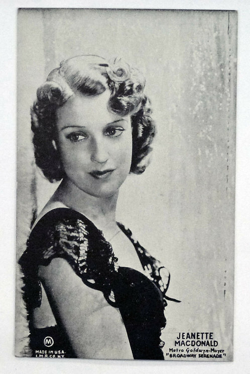 Vintage Postcard Jeanette Macdonald Actress Postcard MGM movie Broadway Serenade