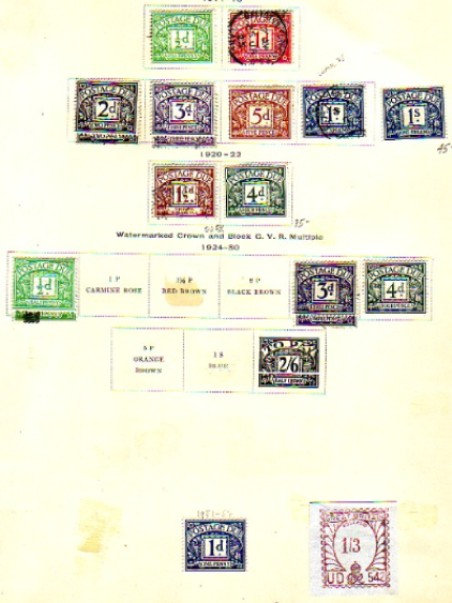 Great Britain Stamp Collection, interesting unlisted issues,Lot 1073