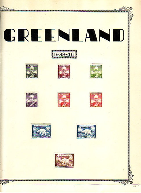 GREENLAND Very high catalog value Stamp Collection, Lot # 1469