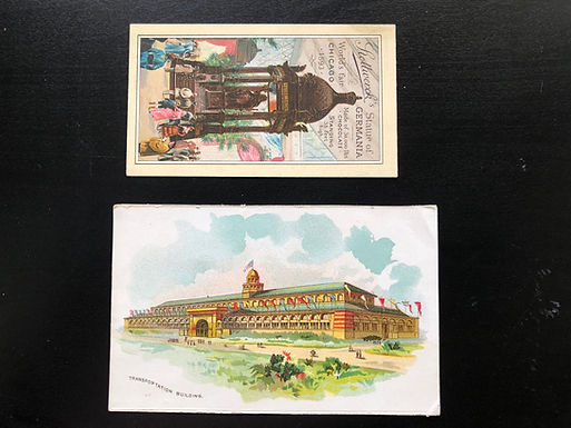 1893 Chicago World's Fair Trade Card Stollwerck's Chocolate Statue of Germania