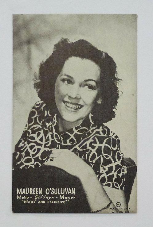 "Maureen O'Sullivan MGM Promo Postcard 1940 ""Pride and Prejudice"" Old Mutoscope"
