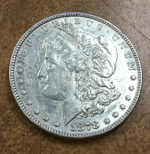 1878 VAM-200 Morgan Dollar Reverse of 79  broken N & M in UNUM Rarity 6