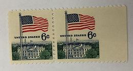 1338 Imperforate Side Margin Pair Stamps