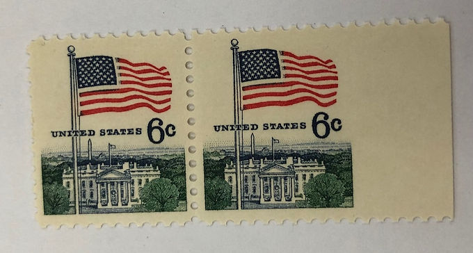 1338 Imperforate Side Margin Pair Stamps
