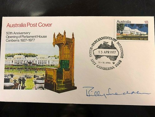 Australian First Day Cover - Autograph of Sir Billy Snedden