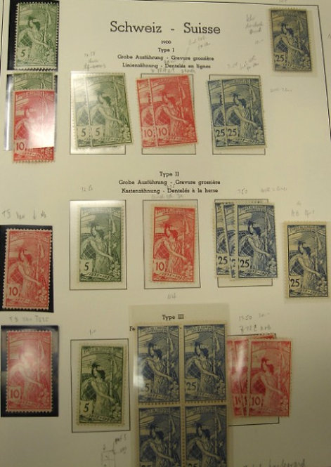 Switzerland Stamp Collection, about 850 stamps and 26 covers or postcardLot 1248
