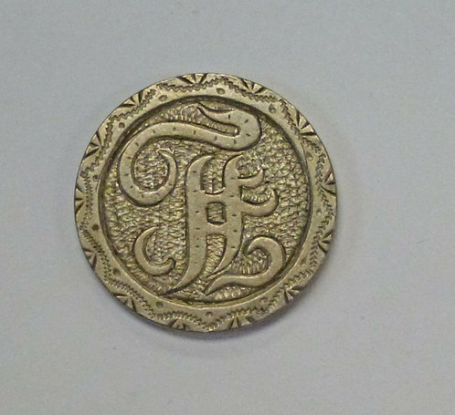 Victorian LOVE Token F. or F.H. made from 1868 Shield Nickel