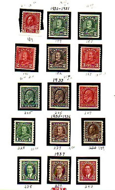CANADA Stamps - Regular issues, mostly coils Lot 1358