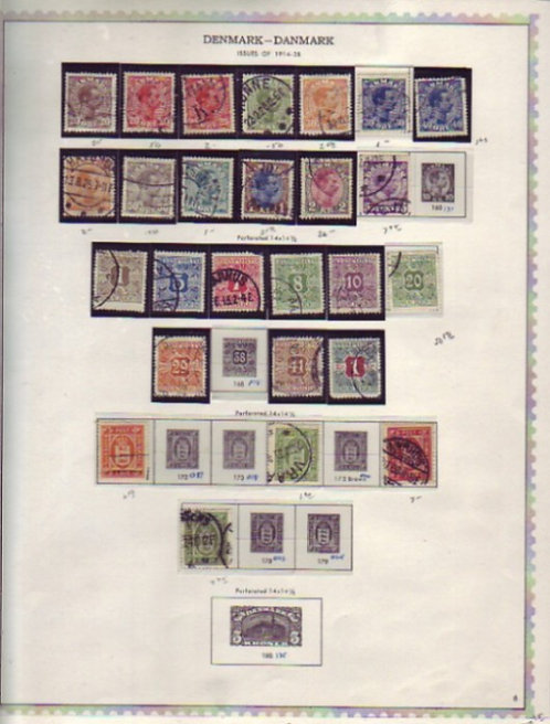DENMARK Stamp Collection on Minkus Specialty pages to 1985, Lot 1455