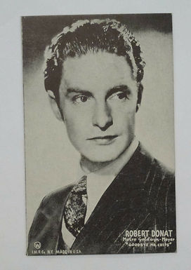 "Robert Donat MGM Film ACTOR ""Goodbye Mr. Chips"" Old Mutoscope Postcard"