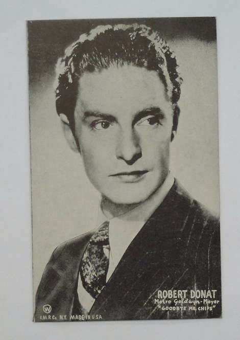 """Robert Donat MGM Film ACTOR """"Goodbye Mr. Chips"""" Old Mutoscope Postcard"""