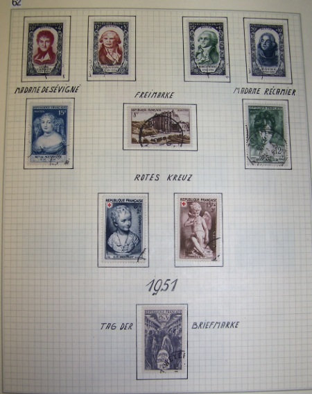 France Stamp Collection 1900-2001, 3 Volumes, Lot 1543
