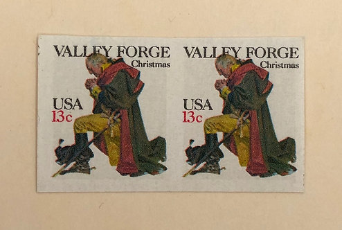 1729a Valley Forge Christmas- imperf sheet pair