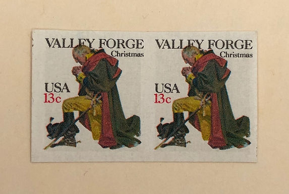 1729a Valley Forge Christmas- imperf sheet pair stamps