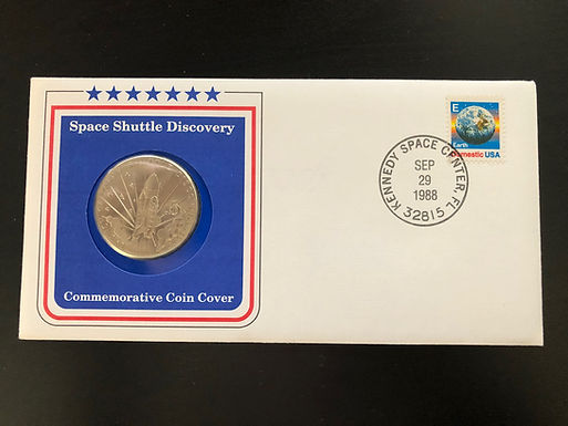 Space Shuttle Discovery 1988 Commemorative Coin Cover W/COA, FDC