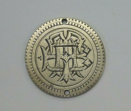 1876 LOVE TOKEN  50 c  Seated Liberty  B.T.H.engraved  Holed