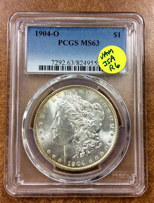 1904-O Morgan Dollar PCGS MS-63 VAM-35A R6