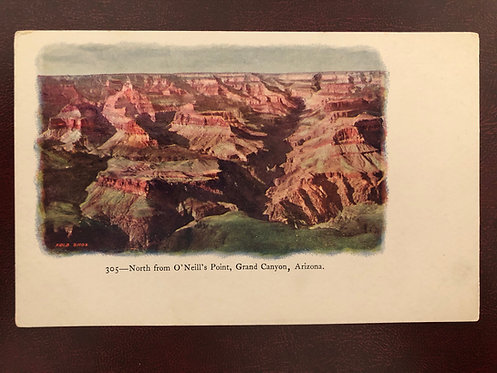 Vintage Grand Canyon AZ Embossed Postcard, North from O'Neills Point