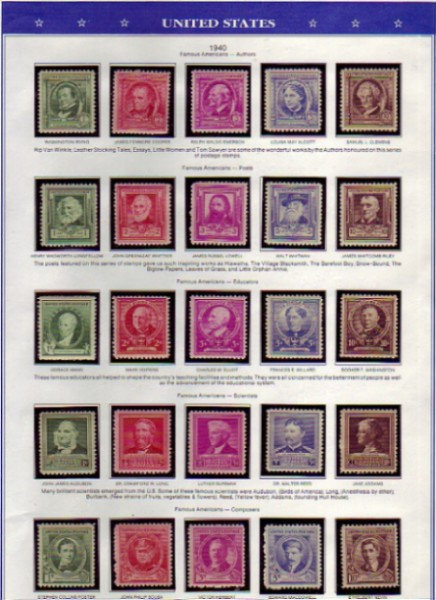 United States & Canadian Stamp Collection  Lot 1321