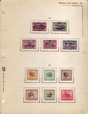 Belgian Congo and Belgian East Africa Stamp Collection, Ruanda Urundi, Lot 1473