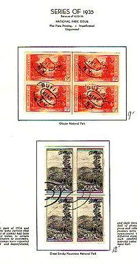 U.S. Stamp Collection used blocks Lot 1048