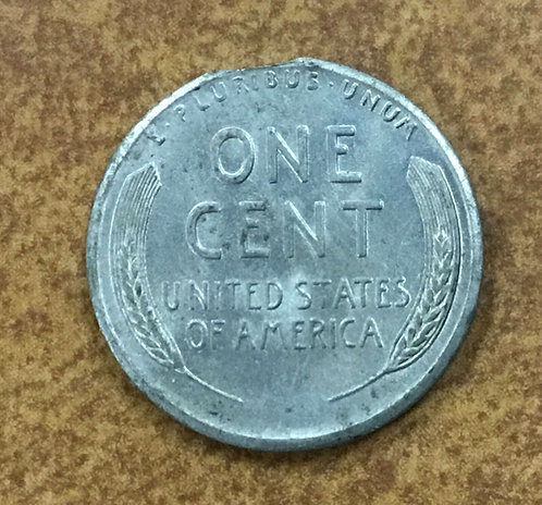1943-s  Lincoln Steel Cent Mint Error