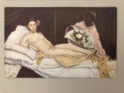 Vintage Postcard of Edouard Manet's Olympia, No postmark or Stamp