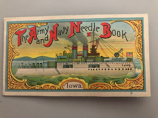The Army and Navy Needle Book - Made in Japan with Needles, SS Iowa