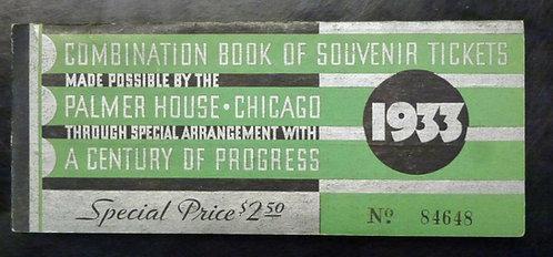 1933 CENTURY OF PROGRESS Combination Souvenir Ticket Booklet