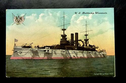 1902 U.S. Battleship WISCONSIN Copyright Enrique Muller