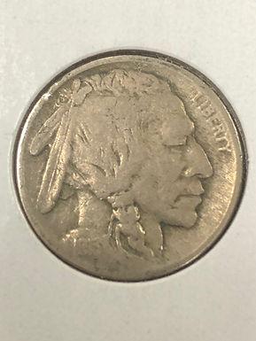 1913 P, Type 2, Buffalo Nickel, F
