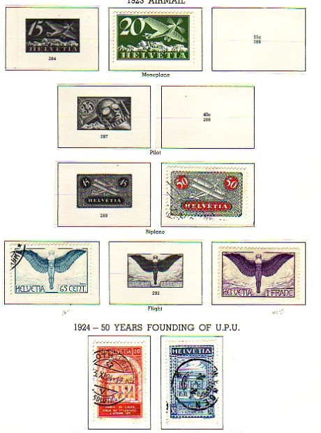 Switzerland Stamp Collection, some good air mails, officials, Lot 572