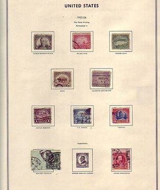 U.S. Stamps - Used in Harris Classic Album Lot # 902