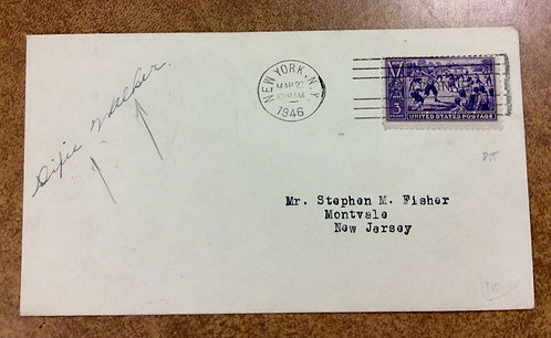 "855 on 1946 First Day Cover Fred ""Dixie"" Walker Autograph"