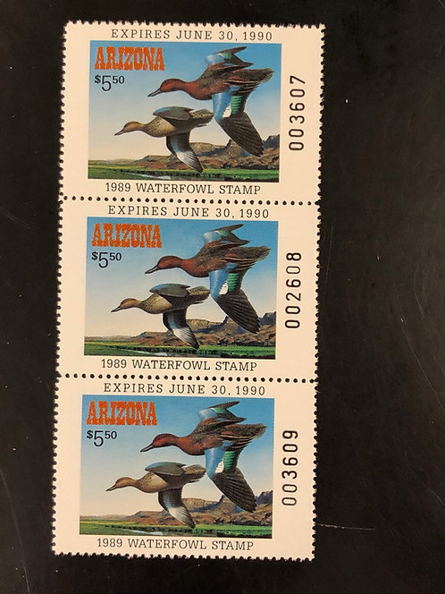 1989 Arizona Duck Stamp -Rare!