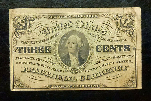 3¢ (Three Cents) Fractional Currency FR 1227