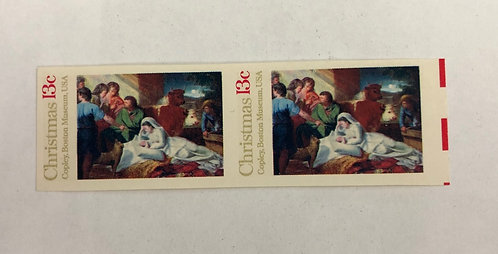 1701a Copley Nativity 1976 Imperforate sheet pair Stamps