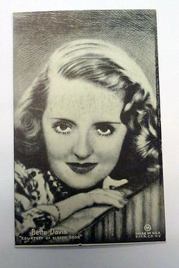 Antique Old Mutoscope postcard Actress Bette Davis early in career