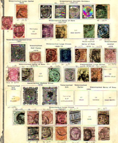 Great Britain Stamp Collection all pre-1900 -Lot 1247