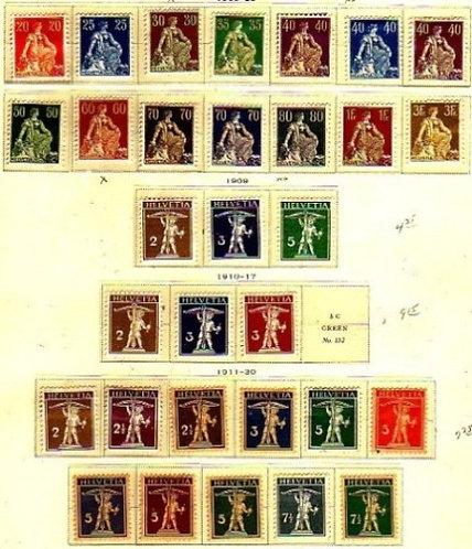 Switzerland Stamp Collection - Lot 1257