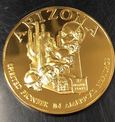 Sterling Arizona Spirited Pioneer in America's Heritage Commemorative