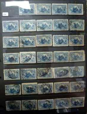 Early U.S. used Stamp Collection, some fancy cancels,Lot 1481