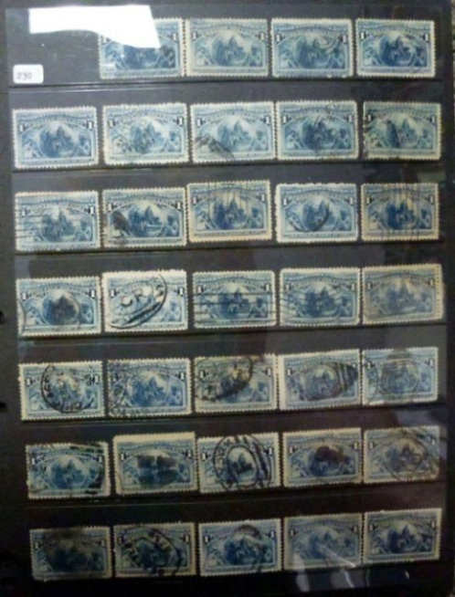 Early U.S. used Stamp Collection, some fancy cancels, Lot 1481